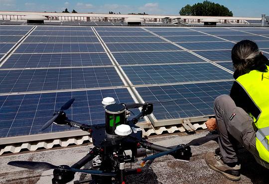 diagnosi fotovoltaico drone